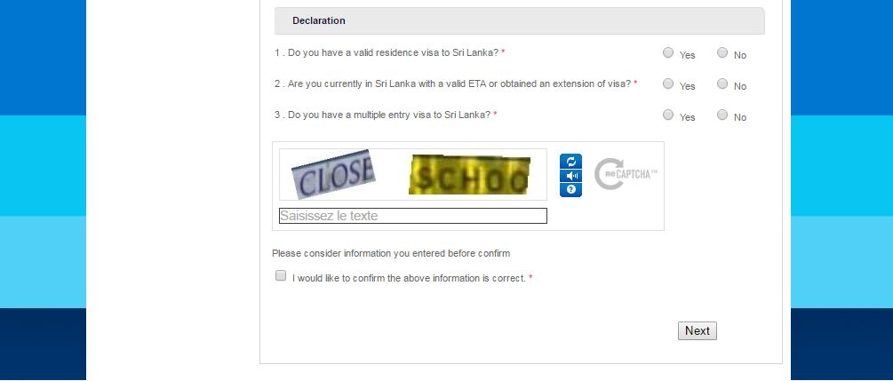 demande de visa ETA sri lanka