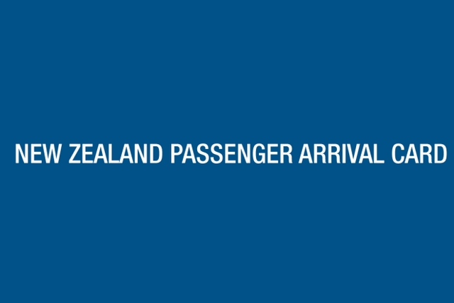 NZ passenger arrival card