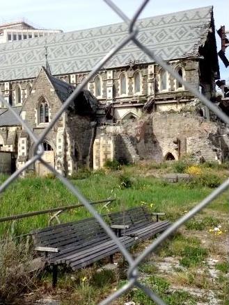 l'église de christchurch détruite