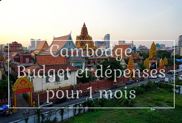 Cambodge budget et dépense pour 1 mois