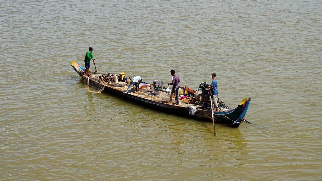 Pêcheurs sur le Mékong