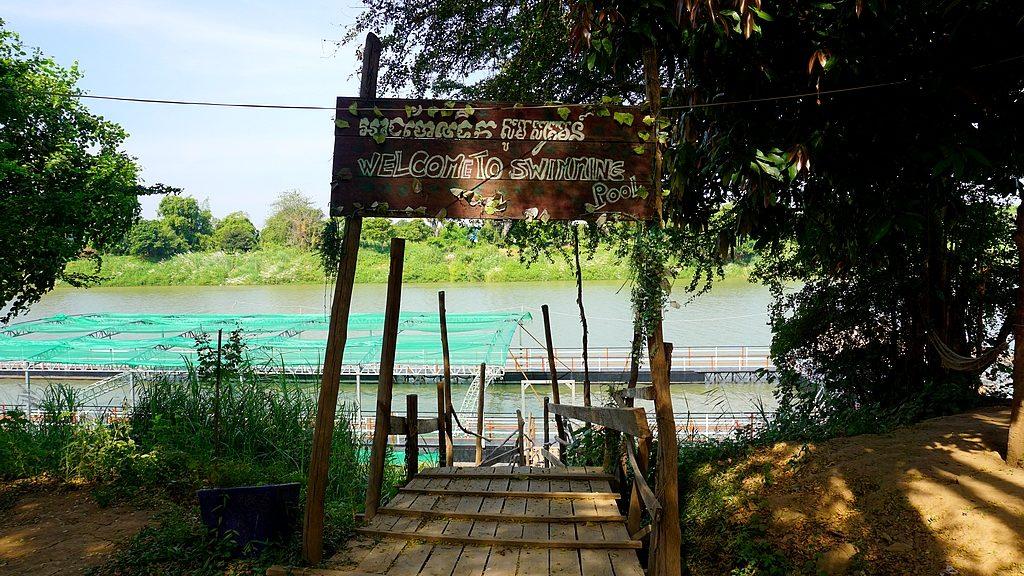 Piscine dans le Mékong