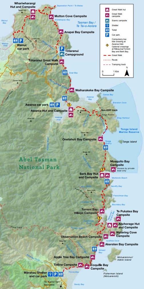 4. abel tasman coastal track