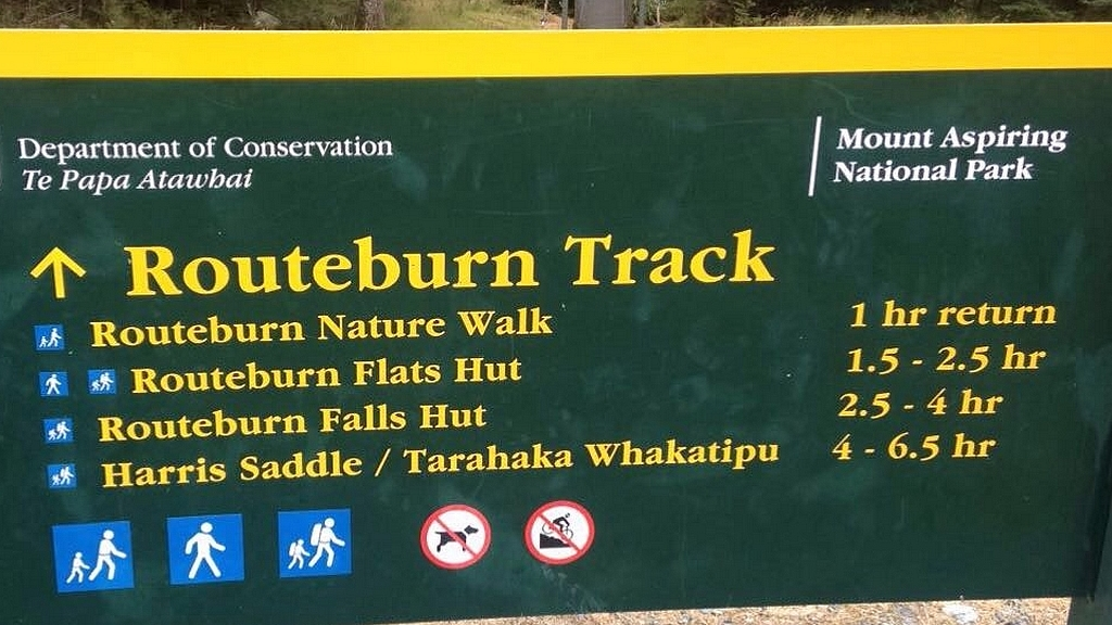 routeburn sign